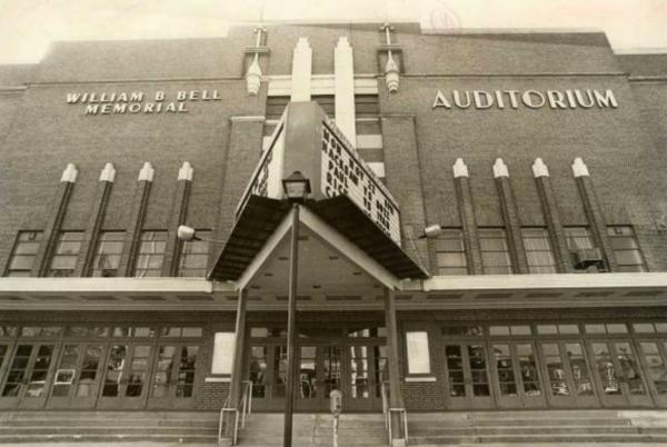 Bell Auditorium Black & White