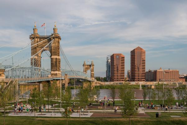 Smale Park with Rivercenter View