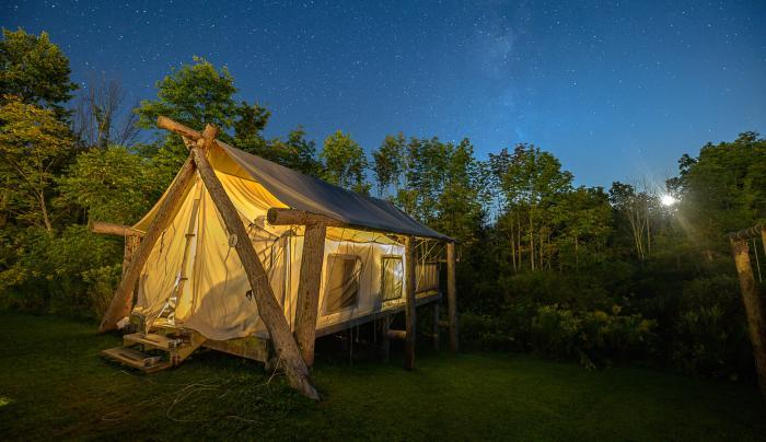 Tent Exterior - Nighttime