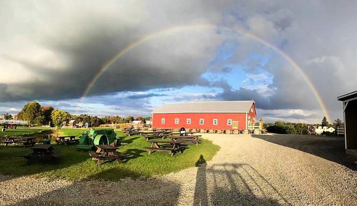 Ellms Family Farm Rainbow over Barn
