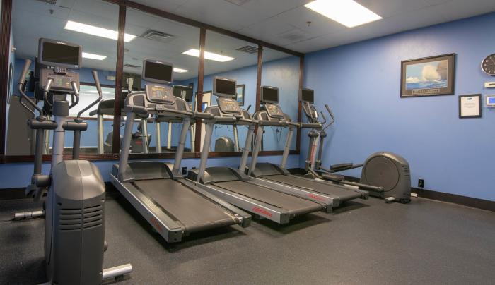 24 hour two room fitness center with all new equipment!