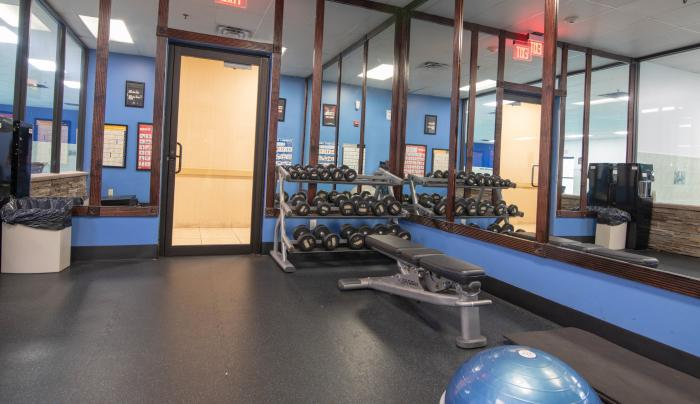 FREE 24 hour 2 room fitness center
