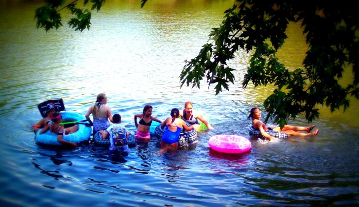 Tubing on the Unadilla at NY River Adventures @Tall Pines