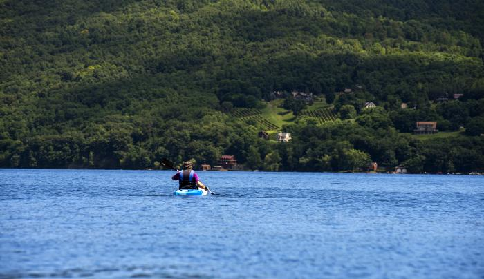 Kayaking on Keuka Lake