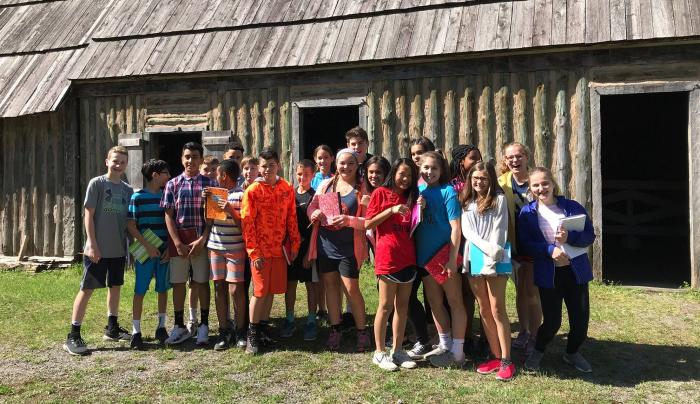 Students tour Sainte Marie Among the Iroquois