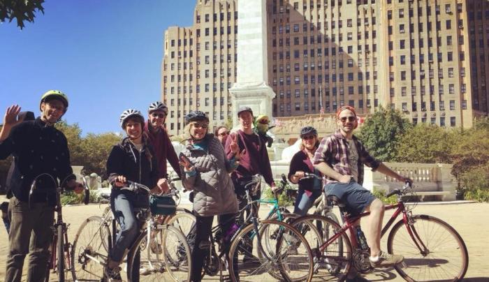 Buffalo Bike Tours group