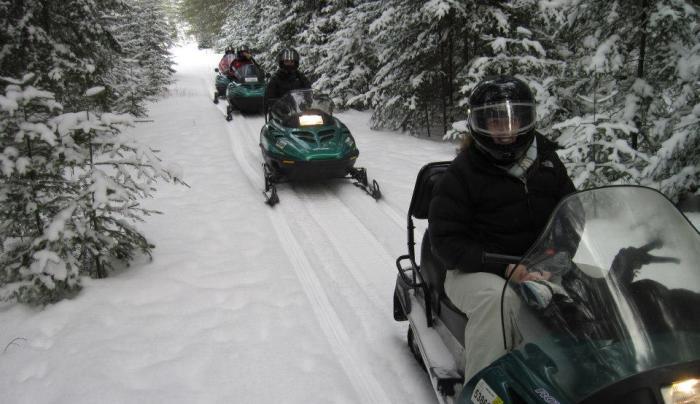 farmhouse snowmobiling