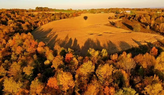 Fall Fields from Balloon