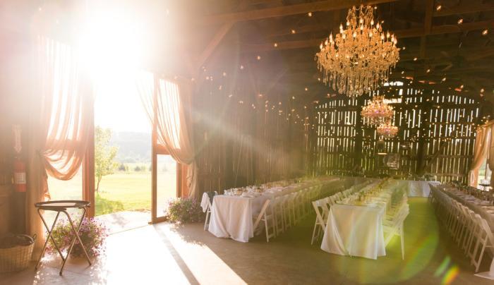 Gilbertsville Farmhouse Wedding Reception Barn