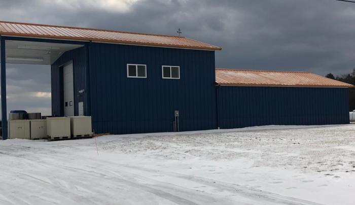The Big Blue Barn in Winter