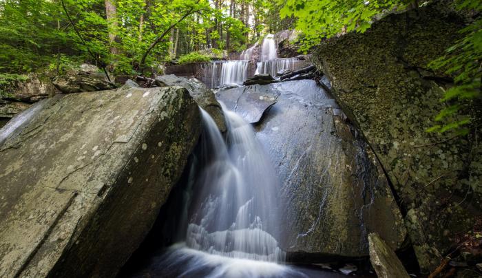 Ashley Falls at North-South Lake Campground , Haines Falls, NY, Greene County, Catskill Region
