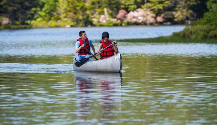 Canoeing/ Paddle Boarding at North-South Lake Campground , Haines Falls, NY, Greene County, Catskill