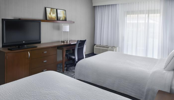 All guest rooms include a large work desk & mini-fridge.