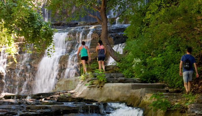 Cascadilla Falls Ithaca Stairs KR