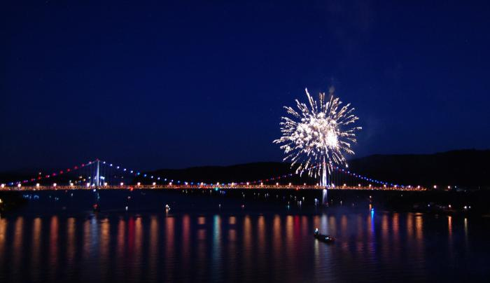 Mid-Hudson Bridge - Fireworks