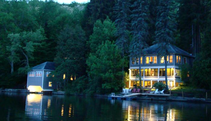 Evening Lakefront Property