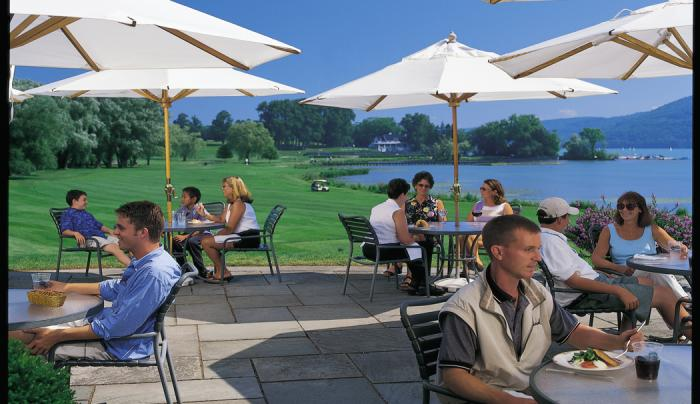 Outside Dining at Otesaga Resort Hotel in Cooperstown NY