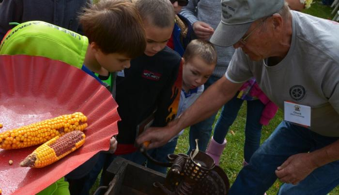 Kids at Tractor Fest
