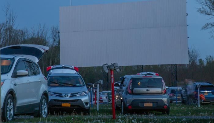 Finger Lakes Drive-In at Night