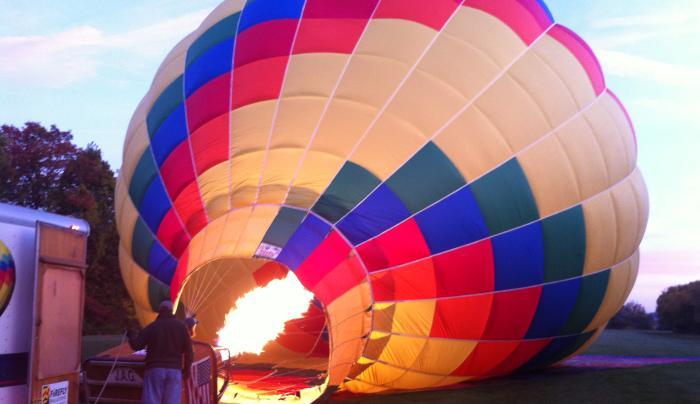 Firing up the balloon