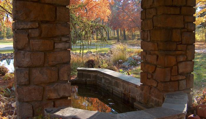 Graycliff Fountain Autumn