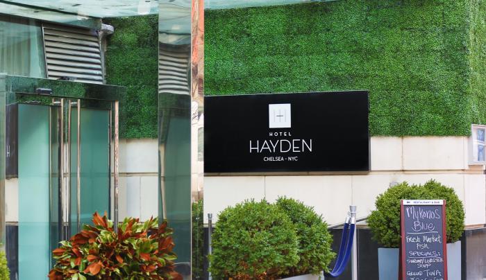 Hotel hayden Entrance