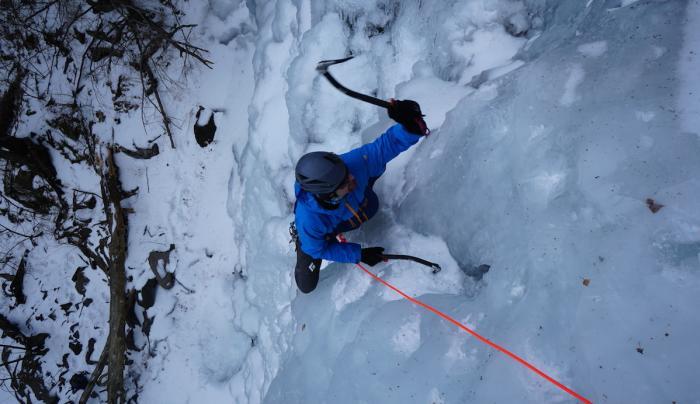 Hillier Ravine, Catskills Ice Climbing, NY