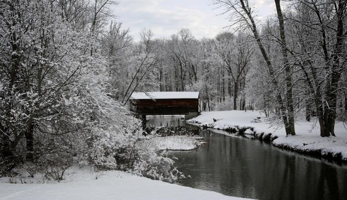Hyde Hall Covered Bridge - Oldest WOODEN covered bridge in USA.