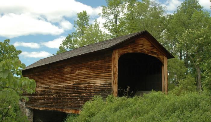 Hyde Hall Cover Bridge - Photo Courtesy of NYS Covered Bridge Society
