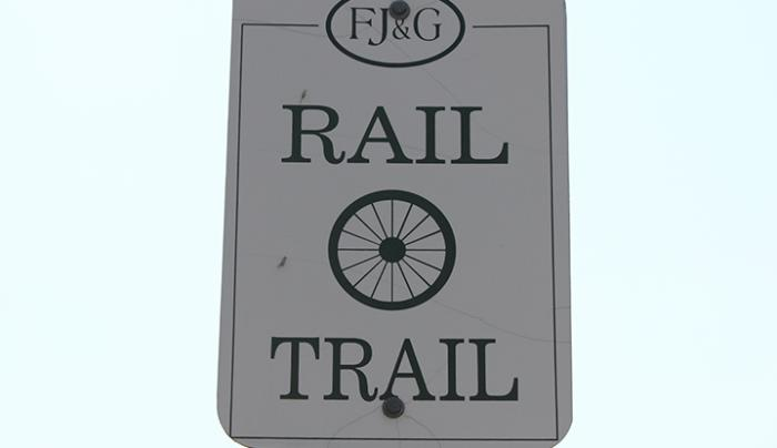 FJ&G Rail Trail Sign