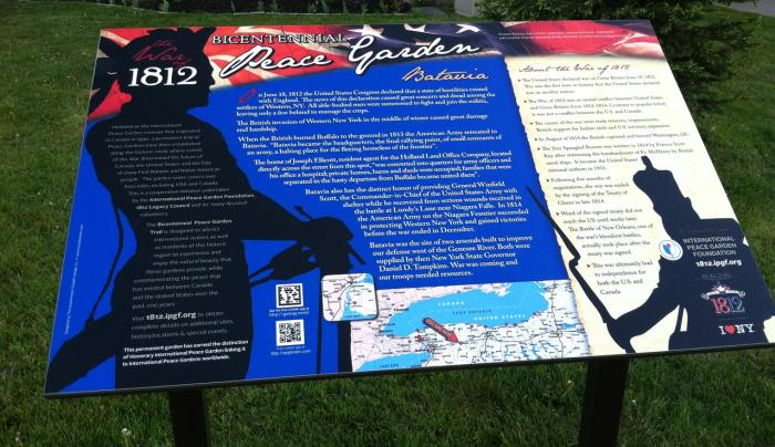War of 1812 Bicentennial Peace Garden Photo Courtesy of Peace Garden
