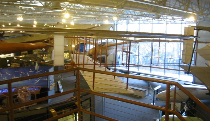 Main exhibit floor from stairway