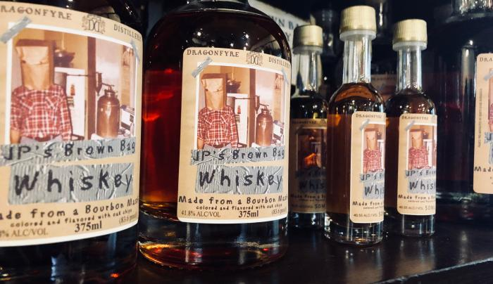 Whiskey at Dragonfyre Distillery