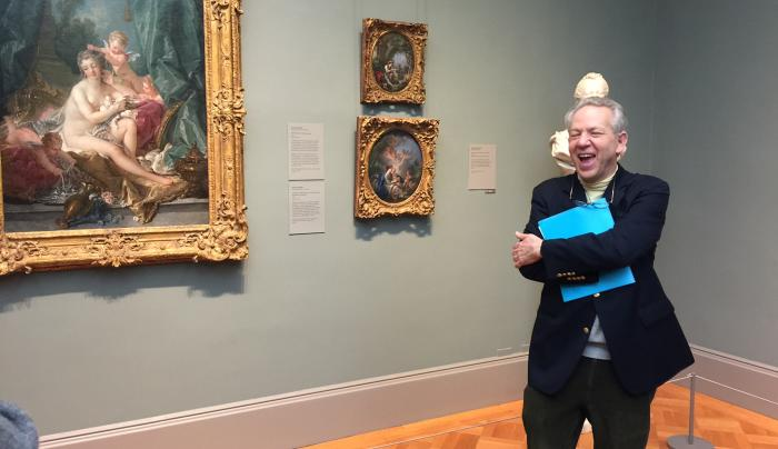 Professor Lear on tour at the Met