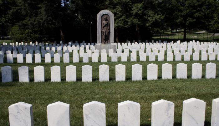 Confederate burial site at Woodlawn National Cemetery