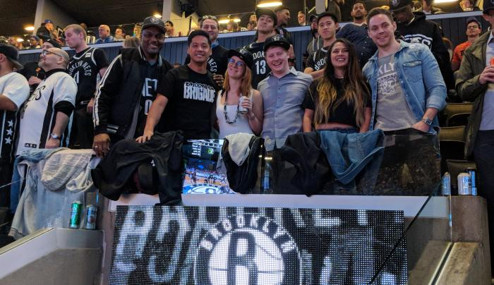 Brooklyn Nets with Local Fans