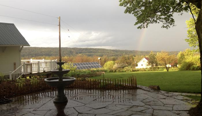 our view, after a summer storm.............