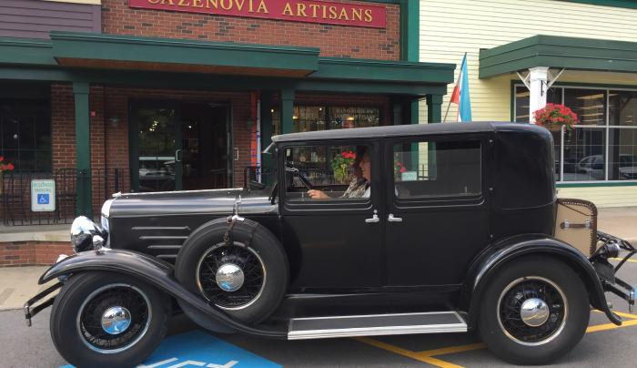 Franklin Car in front of our Gallery
