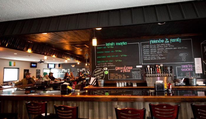 Photo of the bar area inside of Irish Mafia Brewing Company