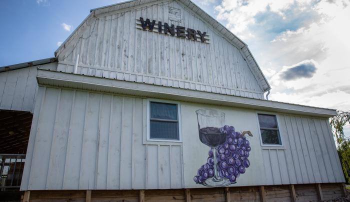 Izzos White Barn Winery in Cayuga County