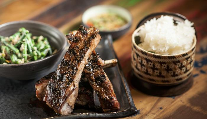 Berkshire Spareribs and Sticky Rice