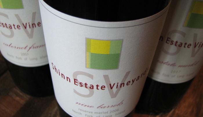 Label, Shinn Estate Vineyards - Photo by Barbara Shinn - Courtesy of Shinn Estate Vineyards
