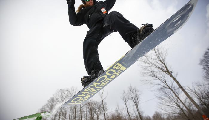 Snowboarding at Labrador Mountain