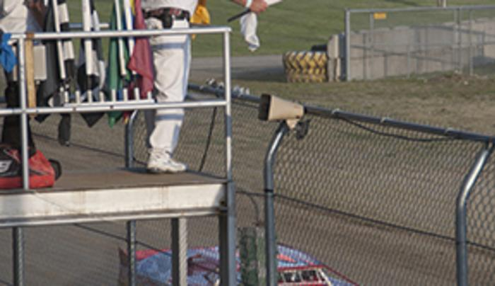 Little Valley Speedway Flagman