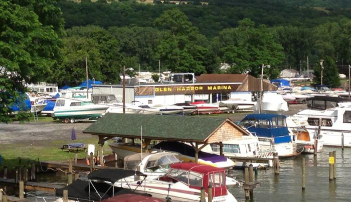 Marina and boat rentals on Seneca Lake