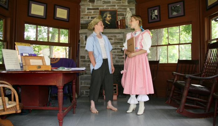 Tom Sawyer & Becky Thatcher at the Mark Twain Study