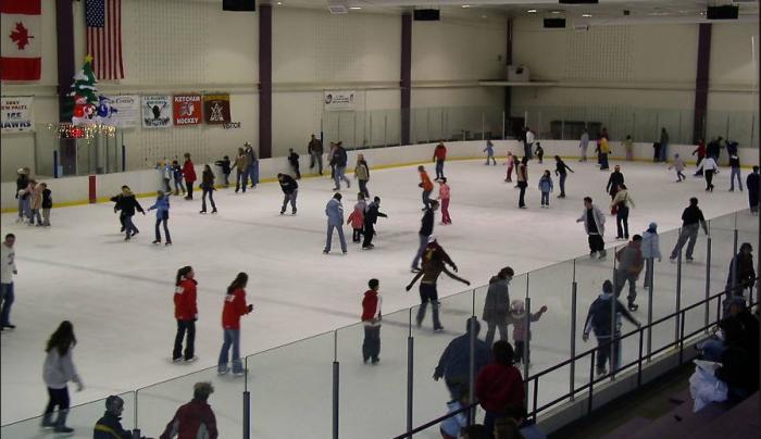 McCann Ice Rink with Skaters Jan 2019