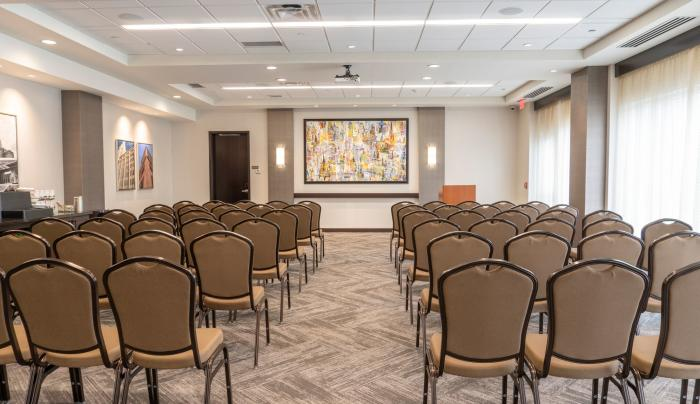 Flexible meeting spaces with unique food & beverage options, AV Equipment and more.
