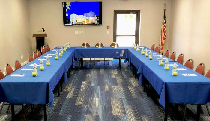Newly renovated meeting space accommodates up to 100 people!