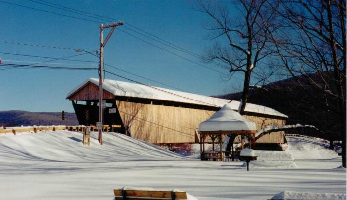 Downsville covered bridge winter
